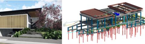 Estrutura completamente integrada com a arquitetura
